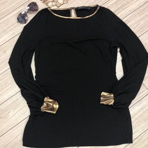 Kardashian Collection Black tunic with gold 12